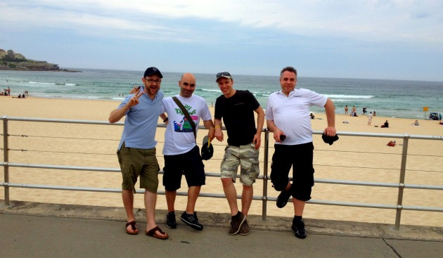 Los embajadores de Atlassian en Bondi Beach