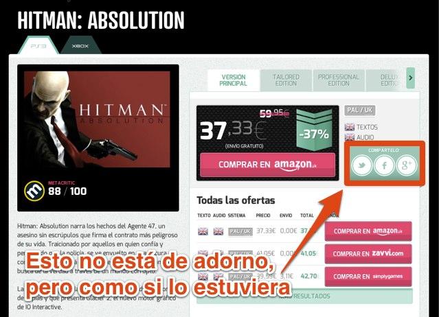 Botonera Social en la ficha de producto de Otogami.com