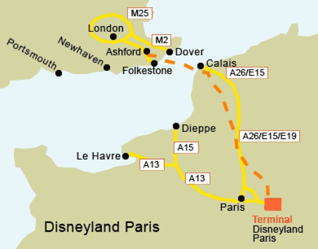 Mapa de Disneyland Paris