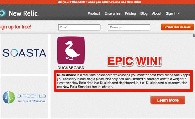 Marketing de canal de Ducksboard